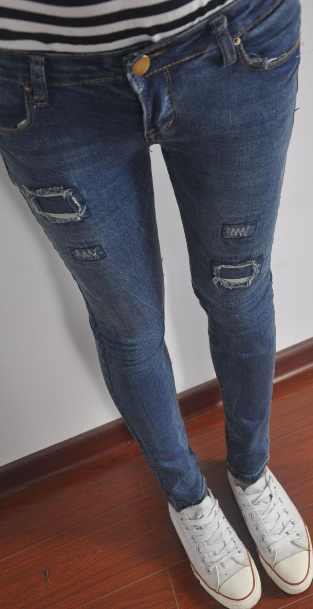 2014夏季爆款女士牛仔长裤批发