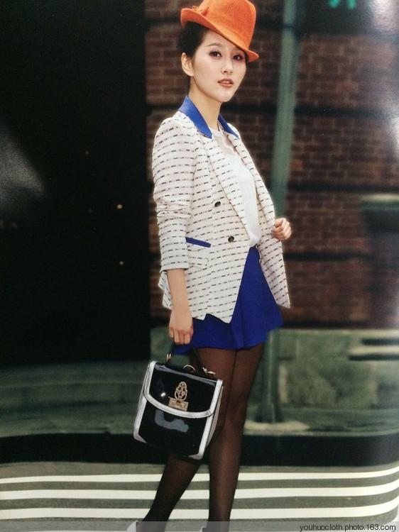 14年新款杭州品牌给彩春装女装折扣批发