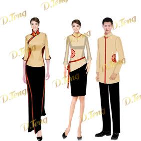 深圳中式夏季餐厅服装