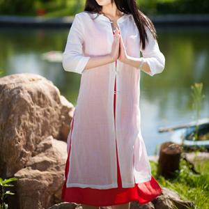 天然亚麻棉面料瑜伽服