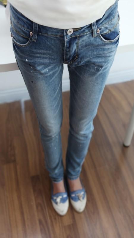 工厂便宜处理女士牛仔长裤
