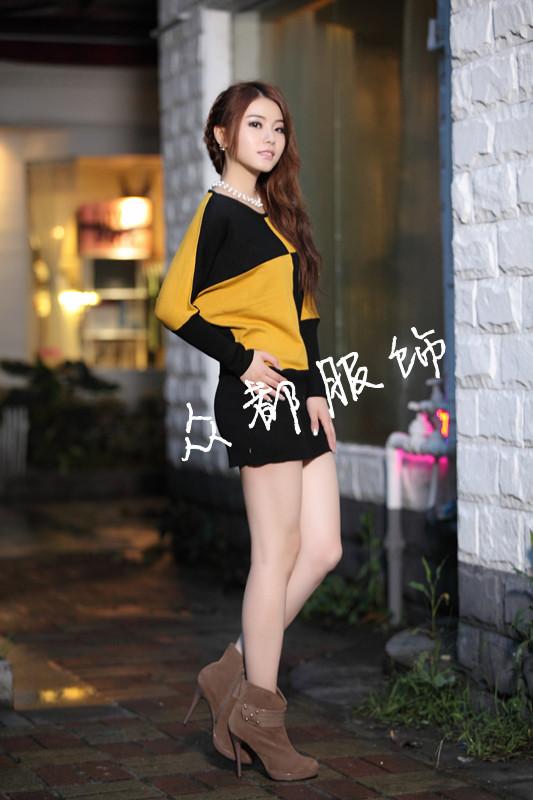 沈阳五爱新品时尚气质韩版显瘦修身打底衫花边毛衣便宜批发