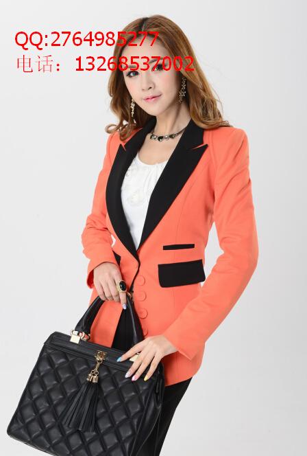 韩版精品秋冬季女式小西装外套一件代发