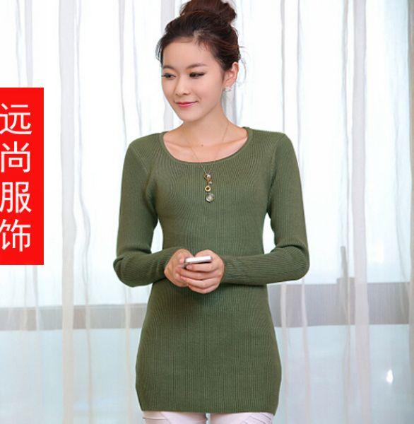 外贸女装时尚高领毛衣清新纯洁百变最便宜打底衫批发
