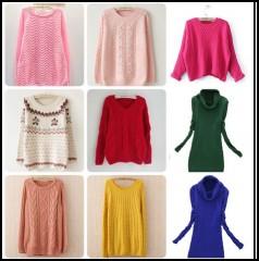 广州哪里有尾货毛衣处理低至几元韩版毛衣批发