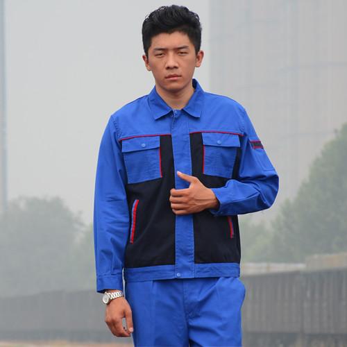 弯月亮工作服纯棉电工工装秋季长袖预售款批发