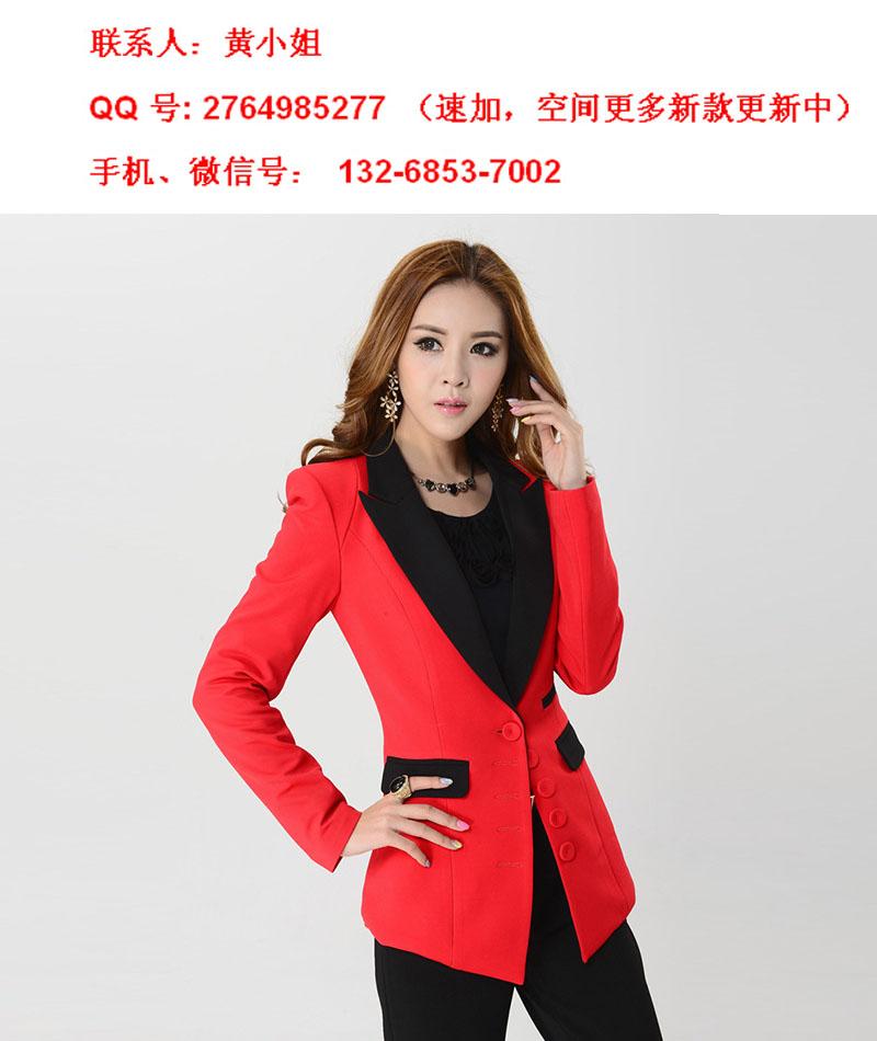 优质韩版精品女式秋冬季修身小西装外套批发一件代发