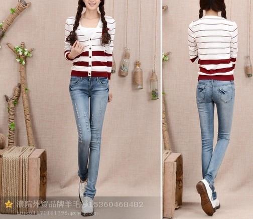 广州女式超显瘦牛仔裤货源批发厂家直销