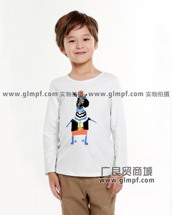 儿童秋冬装纯棉长袖T恤衫批发
