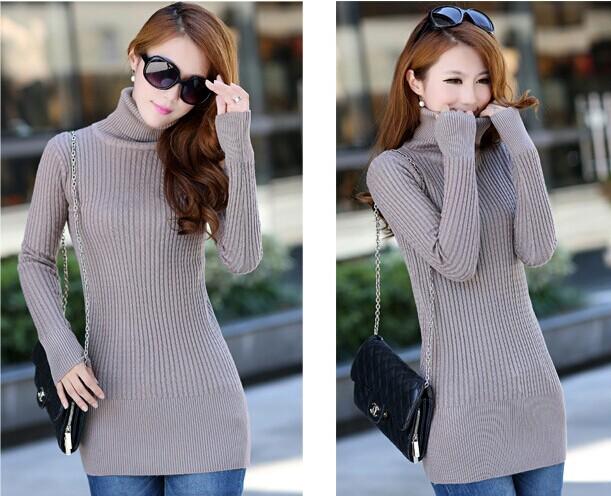 便宜韩版中长款女士毛衣直销一手批发