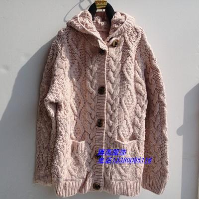 十三行低价女式加厚开衫毛衣外套批发