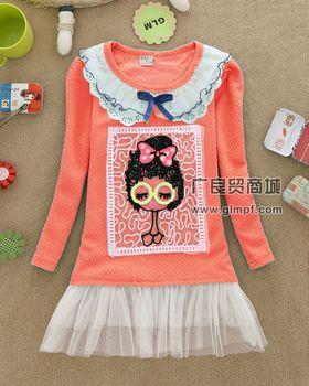 2014年最流行韩版童装连衣裙批发