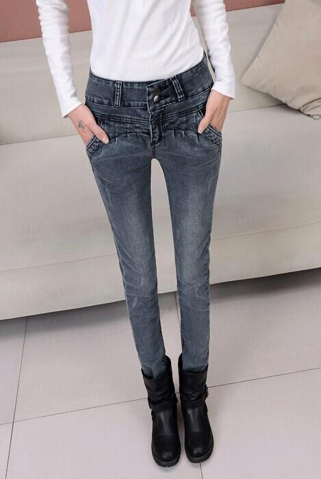 新款时装修身显瘦女装牛仔裤批发