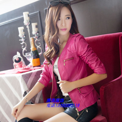 广州低价女式杂款皮衣外套批发
