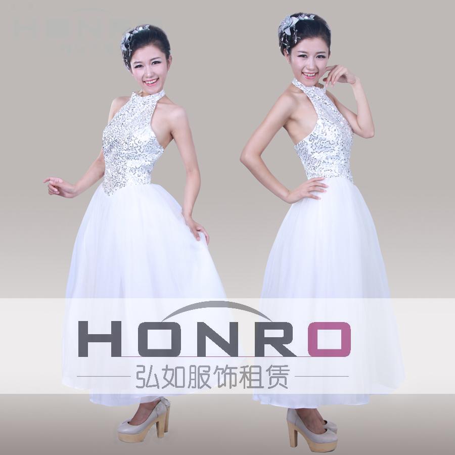 上海诗歌朗诵服装、素雅礼服现代芭蕾舞蹈服装租赁