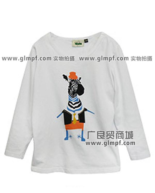 广东童装T恤圆领绣花卫衣批发