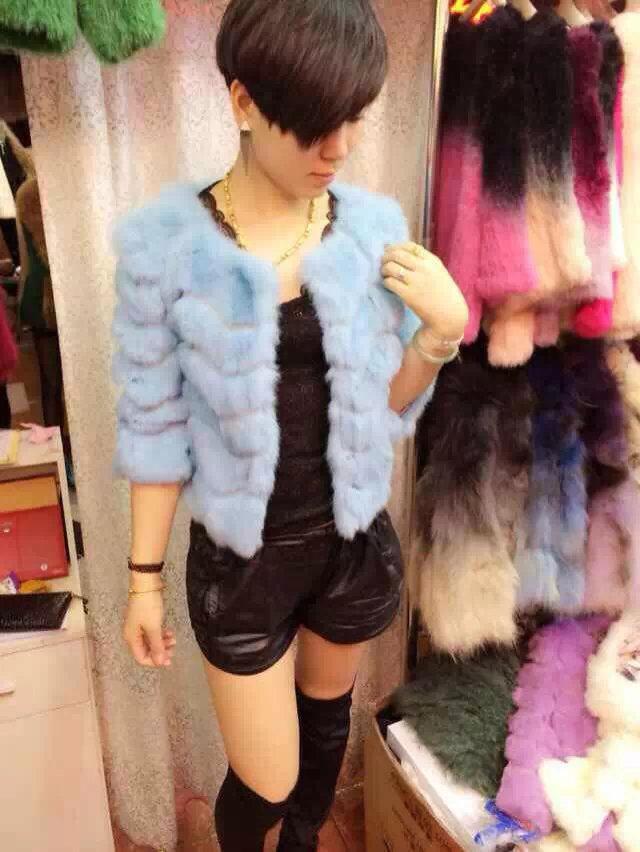 一手货源冬季时尚女装便宜皮草批发