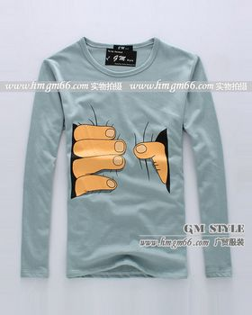 韩版便宜圆领男装T恤批发