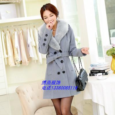 冬季女装毛呢子大衣外套批发