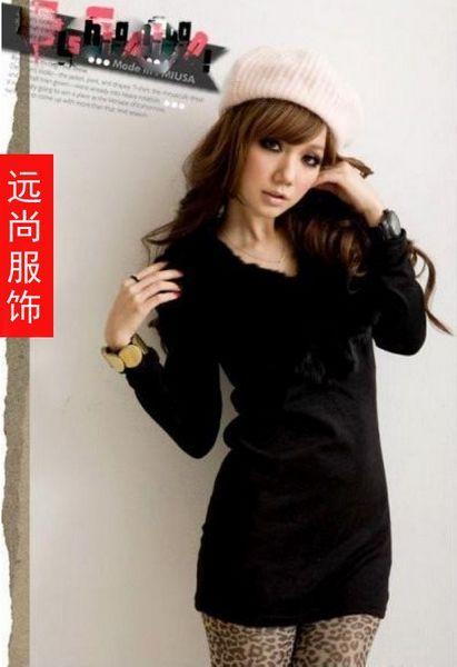 女装秋冬新款便宜纯棉显瘦修身打底衫批发