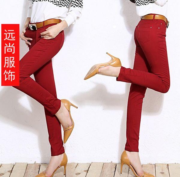 韩版新款超显瘦休闲裤长袖打底衫批发