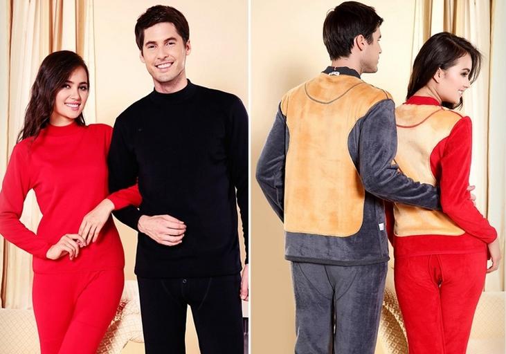 最新款的加绒加厚保暖内衣批发