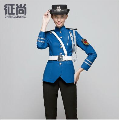 征尚秋季新款蓝色女性保安制服定做