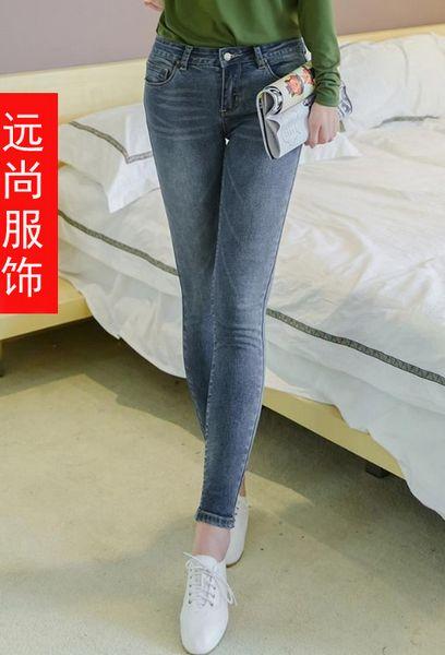 新款复古韩国风冬季棉质牛仔裤批发