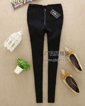 女式时尚新款修身长裤加厚保暖裤批发