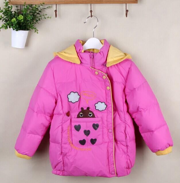 红豆系列冬款可爱甜美设计风女童羽绒服批发