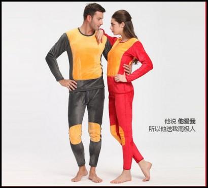 加厚保暖内衣套装厂家特价批发
