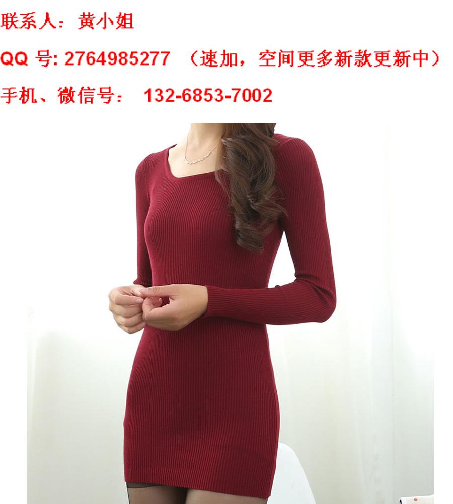 2014新款秋冬韩版时尚修身打底针织衫批发