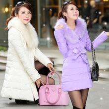 新款时尚韩版长款棉衣批发