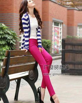 时尚彩色铅笔裤批发