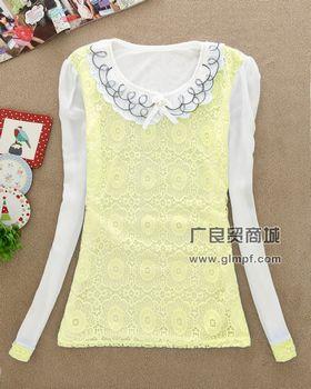 2014冬装新款韩版时尚女装圆领显瘦长袖上衣批发