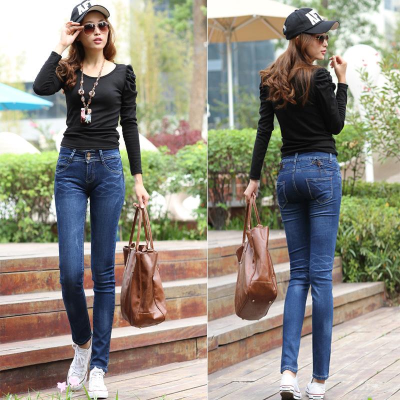 厂家直销便宜的时尚牛仔裤批发