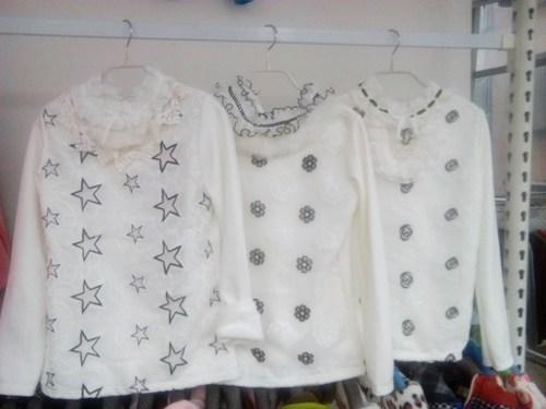 韩版时尚新款白色打底T恤批发