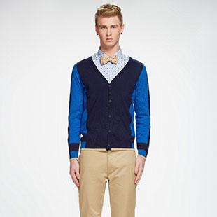 汉哲思:套头毛衣+衬衫 固定搭配也有小商机
