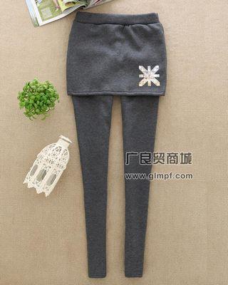 冬季新款加厚假两件保暖美腿裤批发