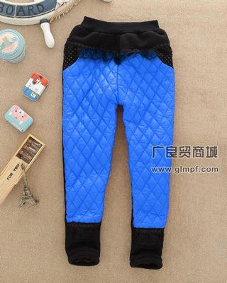 时尚冬季儿童加厚加绒裤子批发厂家直销
