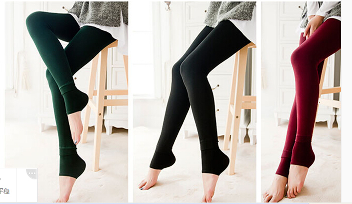 广州沙河时尚无缝打底裤批发,库存便宜加绒加厚保暖打底裤批发