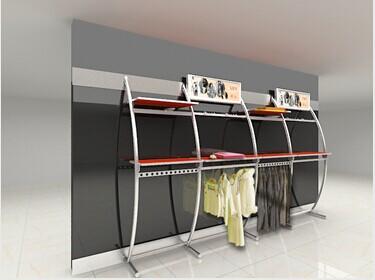 萨帕不锈钢服装展示服装货架定做批发