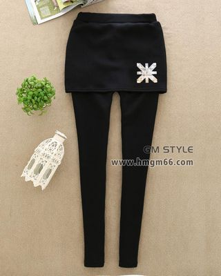韩版冬装时尚女装加绒打底裤批发