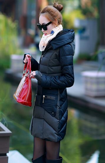 韩版长款加绒女装棉衣保暖卫衣库存批发