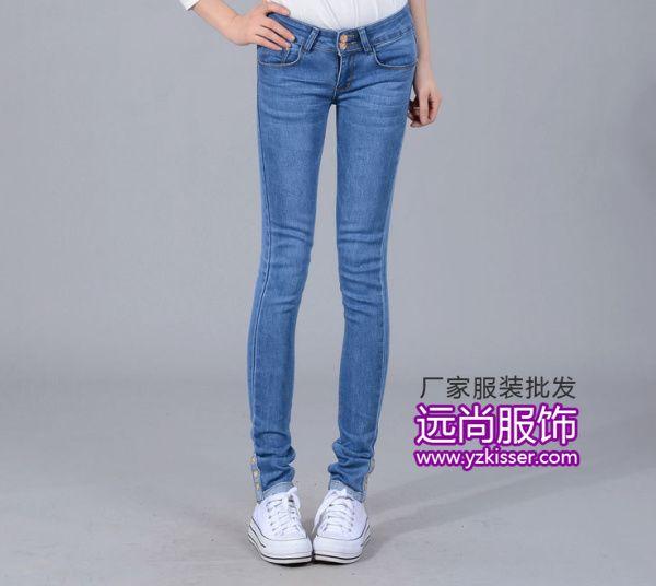 最畅销的韩版女装牛仔休闲长裤批发