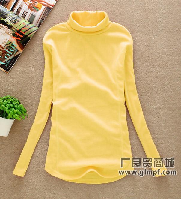 上海最便宜秋季时尚高领打底衫批发