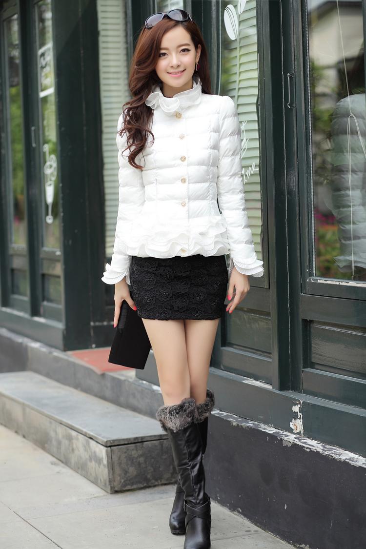 冬季最好看加厚加绒女士棉衣批发