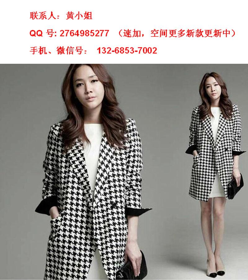 新款大码女装外套韩版中长宽松版毛呢子风衣批发