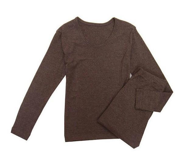 济南男中老年冬装棉服时尚男女加绒保暖内衣加厚三色打底衫便宜批发
