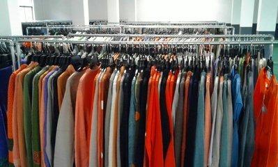 收购库存品牌连衣裙衬衫外贸男装
